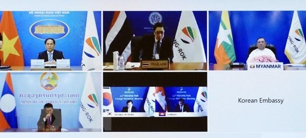越南外交部长裴青山出席湄公河流域五国与韩国合作部长级第11次会议 hinh anh 2