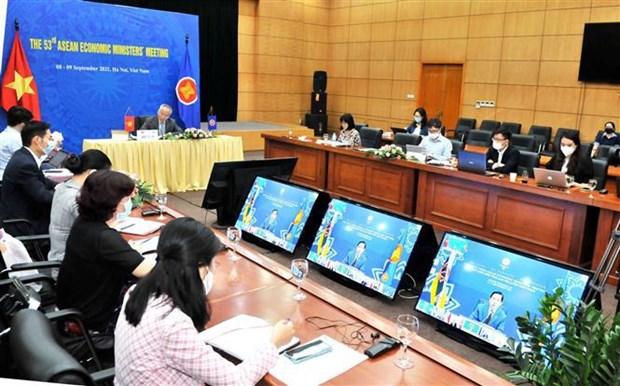 第53届东盟经济部长会议:通过《斯里巴加湾市数字化转型路线图》 hinh anh 2
