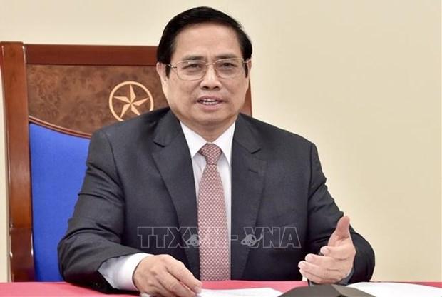 越南政府总理范明政将与奥地利总理库尔茨通电话 hinh anh 1
