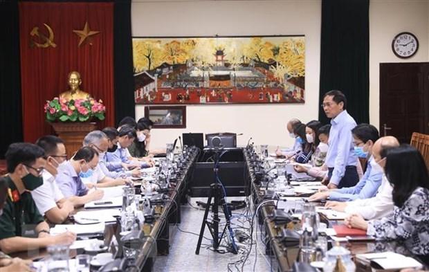外交部部长裴青山:需在国内需求的基础上制定2022年疫苗总体计划 hinh anh 2