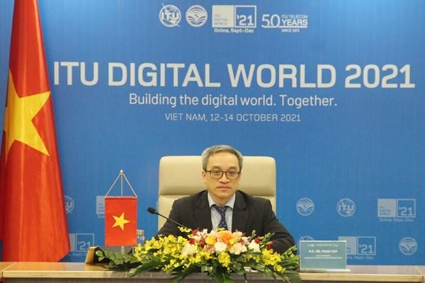 2021年数字世界会议和数字展:数字化转型已成为各国的必然趋势 hinh anh 1