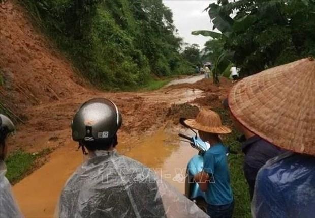 越南多地遭受雷暴雨天气袭击 造成重大财产损失 hinh anh 1