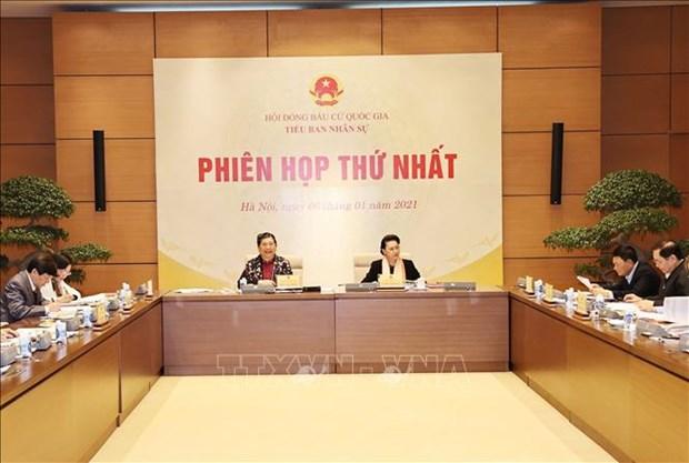 国家选举委员会人事小组举行第一次会议 hinh anh 1