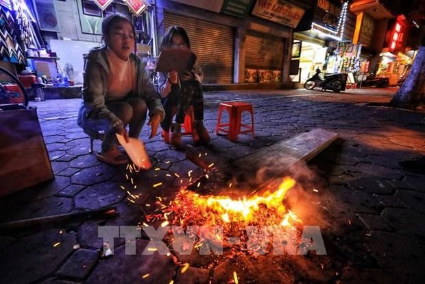 越南北部持续遭受强冷空气侵袭 山区局部地区零摄氏度以下 hinh anh 1