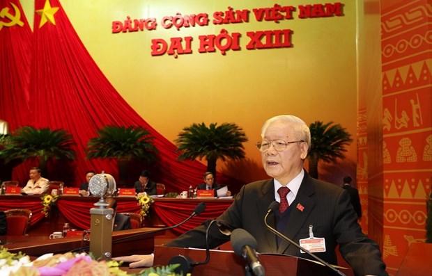 越南共产党第十三次全国代表大会隆重开幕 hinh anh 1
