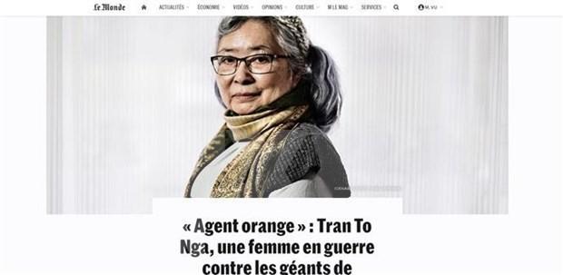 """法国媒体:陈素娥女士起诉美国化学公司案件是""""历史性案件"""" hinh anh 2"""