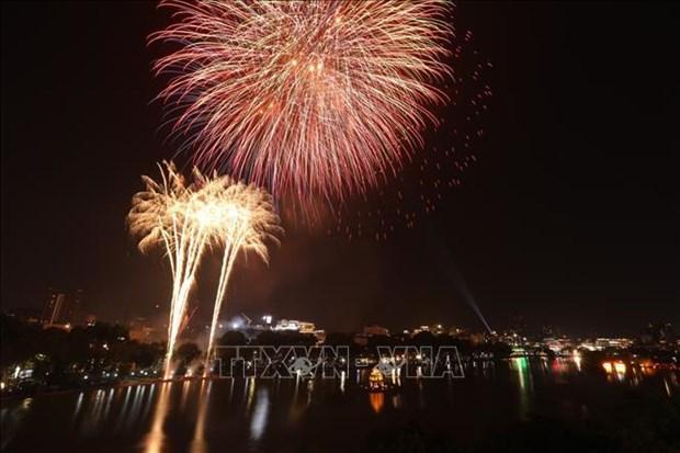 2021年春节除夕河内市仅在1处燃放烟花 建议停止步行街的活动 hinh anh 1