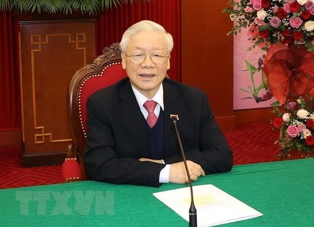 越共中央总书记、国家主席阮富仲与柬埔寨首相洪森通电话 hinh anh 1