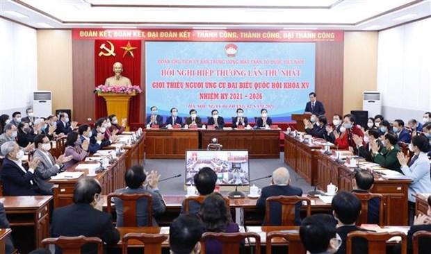 第十五届国会代表候选人推荐协商会第一次会议召开 hinh anh 1