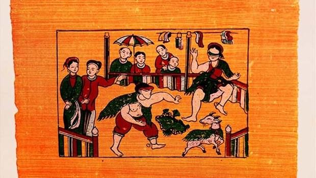 越南民间画引起法国学者的喜爱 hinh anh 1