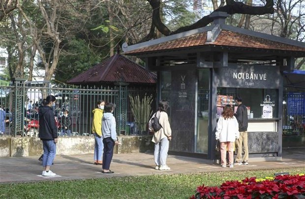 2021年春节假期河内市接待游客量12.2万人次 hinh anh 2