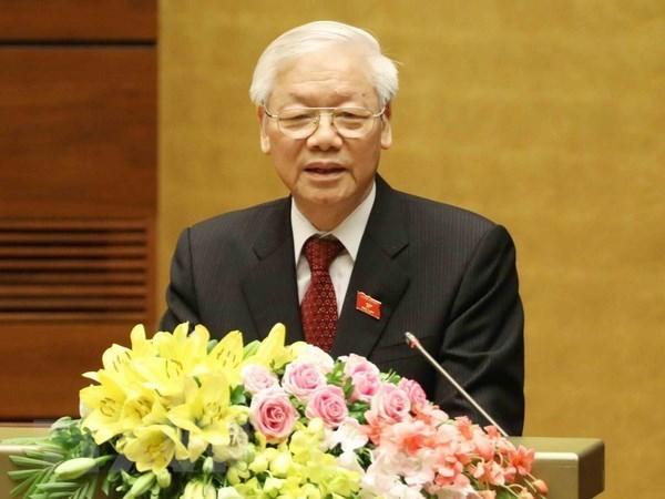 世界多国领导人向越共中央总书记、国家主席阮富仲致贺函 hinh anh 1