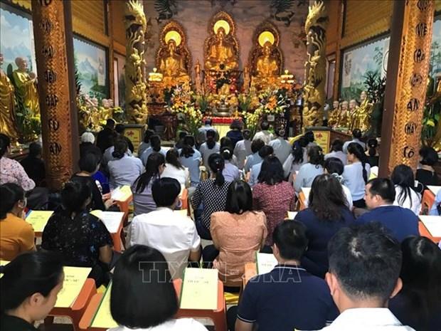 旅居老挝越南人社群喜迎元宵节 祈求国泰民安 hinh anh 1