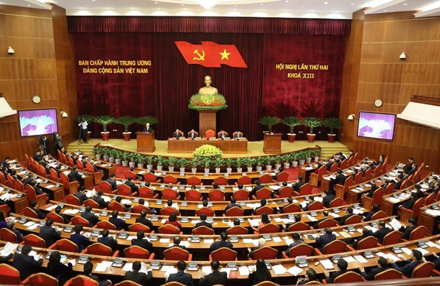 越南共产党第十三届中央委员会第二次中央委员会全体会议在河内开幕 hinh anh 1