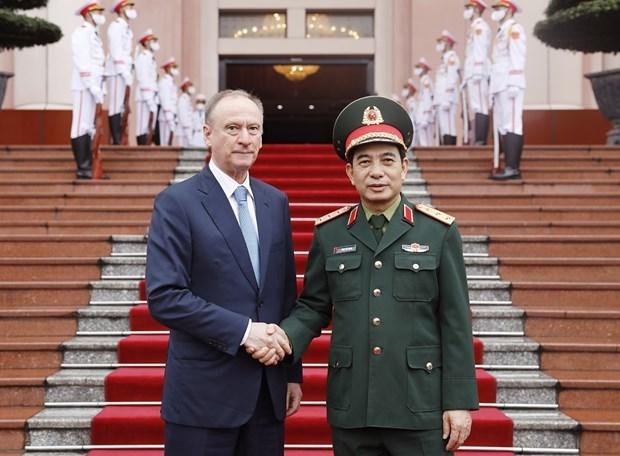 越南人民军总参谋长会见俄罗斯联邦国家安全委员会秘书 hinh anh 1