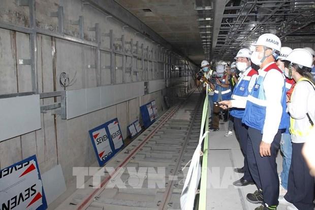 胡志明市地铁一号线高架路拟于2021年底试车 hinh anh 1