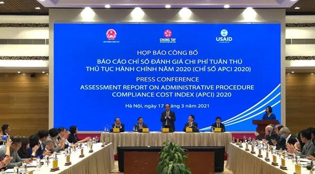 APCI 2020: 税务行政审批制度的改革排名第一 hinh anh 1