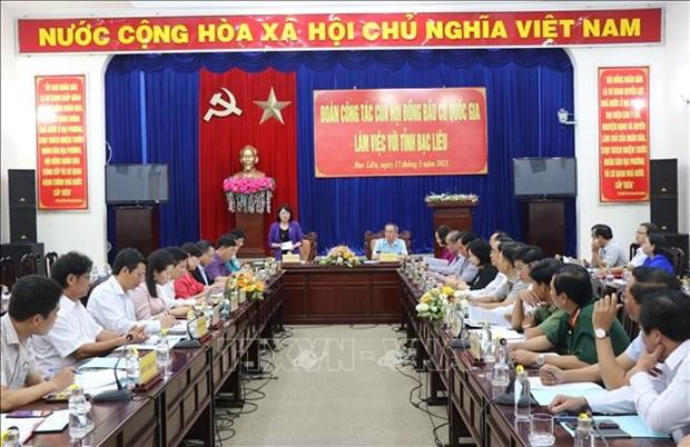国家副主席邓氏玉盛:薄辽省需做好选举前、选举中和选举后宣传工作 hinh anh 1