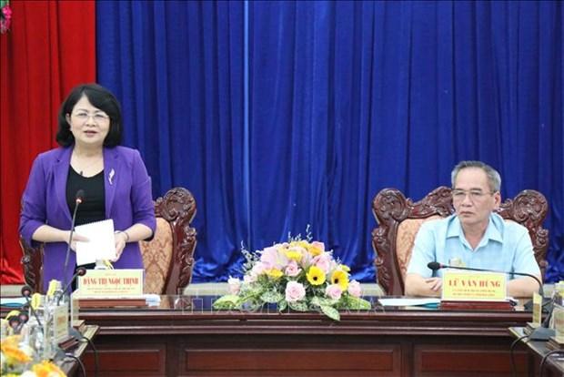 国家副主席邓氏玉盛:薄辽省需做好选举前、选举中和选举后宣传工作 hinh anh 2