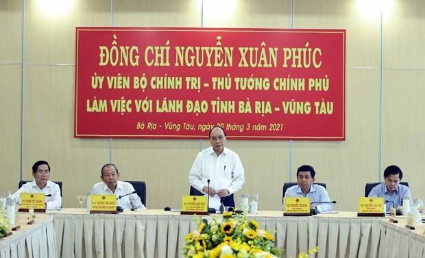 阮春福总理:到2030年将盖梅—布市建设成为地区的重点港口 hinh anh 2