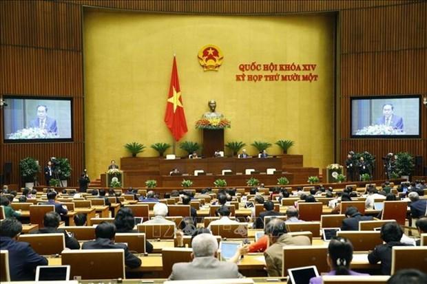 越南第十四届国会第十一次会议新闻会议(第二号) hinh anh 1
