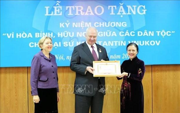 越南友好组织联合会在民间外交工作中起着核心作用 hinh anh 1