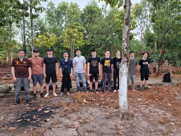 隆安省发现非法入境的12名外国人 hinh anh 1