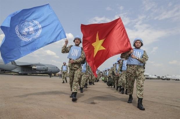 努力出色完成2021年联合国安理会4月轮值主席职责 为展开落实越共十三大的对外路线做出积极贡献 hinh anh 2