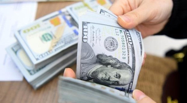 今日上午越盾对美元汇率中间价持续下调 hinh anh 1