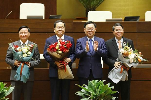 第十四届越南国会第十一次会议:选举3名国会副主席 hinh anh 1