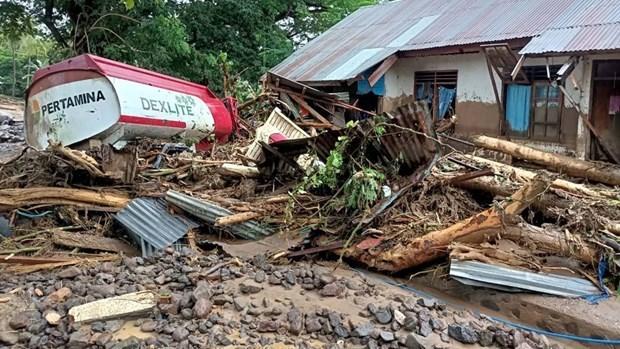 印尼和东帝汶发生山洪和山体滑坡造成70多人死亡 hinh anh 1