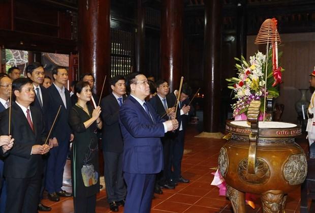 越南国会主席王廷惠在乂安省考察调研 hinh anh 2