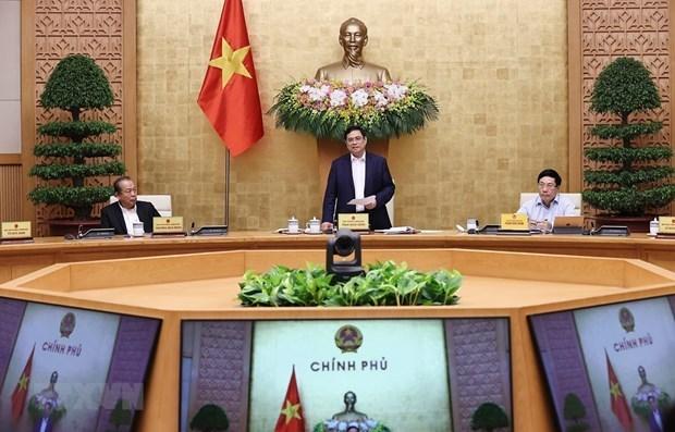 政府总理范明政:政府需立刻着手工作 发挥所取得的成果 hinh anh 1