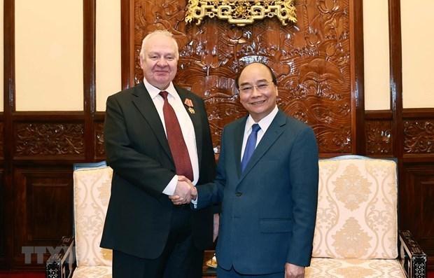 越南国家主席阮春福会见俄罗斯驻越大使弗努科夫 hinh anh 1
