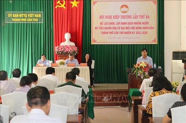 国会代表和各级人民议会代表选举:各地举行第三次协商并通过候选人名单 hinh anh 1