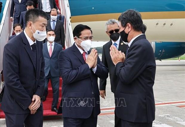 越南政府总理范明政赴印尼出席东盟领导人会议 hinh anh 1