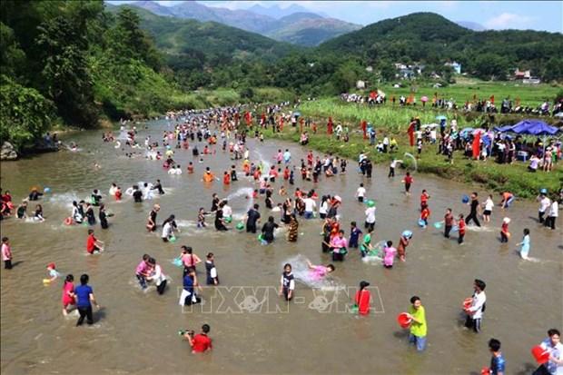 莱州省泰族同胞富有特色的天金乓传统文化节 hinh anh 2