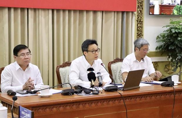 越南政府副总理武德儋指导胡志明市和西南边境10省的疫情防控工作 hinh anh 1