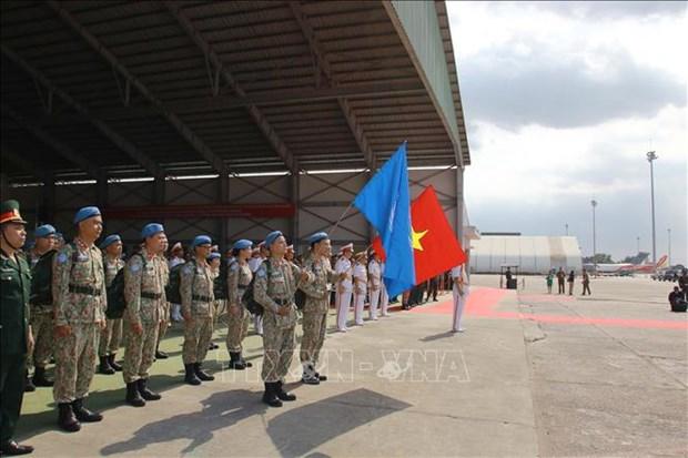 越南二号二级野战医院从南苏丹共和国安全回国 hinh anh 1