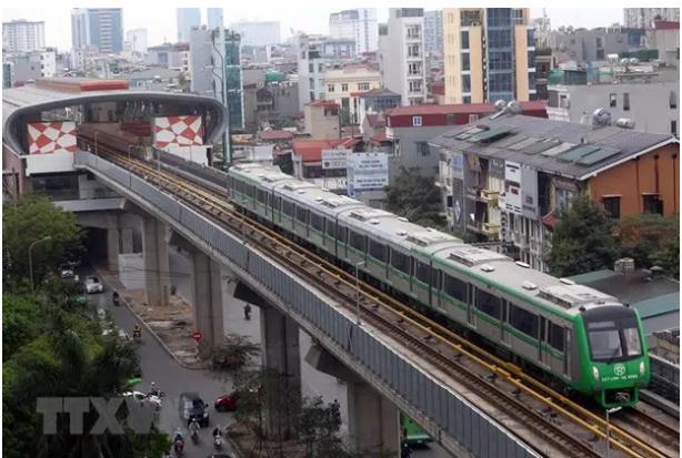 吉灵—河东轻轨项目预计于5月1日投入商业运营 hinh anh 1