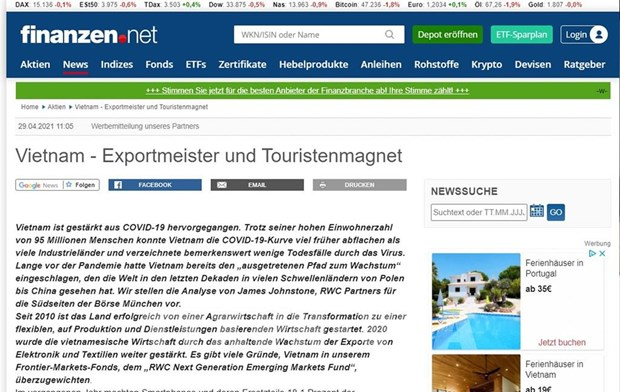 德国媒体分析越南对投资者具有吸引力的原因 hinh anh 1