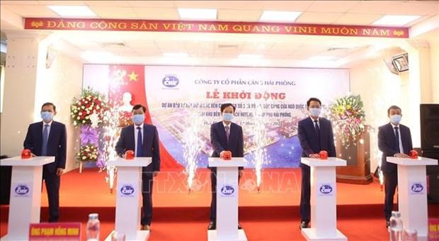 海防港股份公司沥县港集装箱码头建设项目正式动工 hinh anh 1
