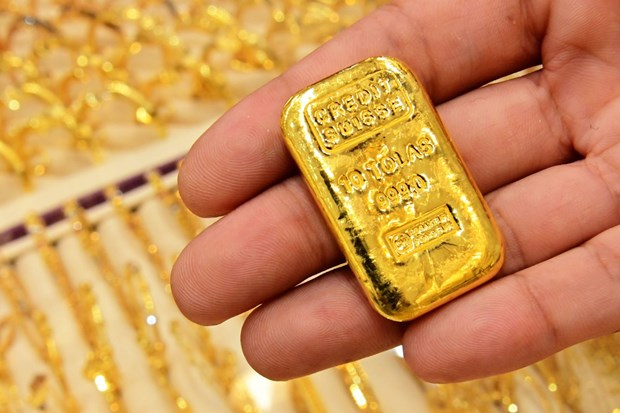 5月14日上午越南国内市场黄金价格上调5万越盾 hinh anh 1