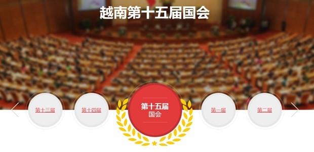 越通社越南第十五届国会和2021-2026年任期 各级人民议会选举信息专题网站正式上线 hinh anh 1