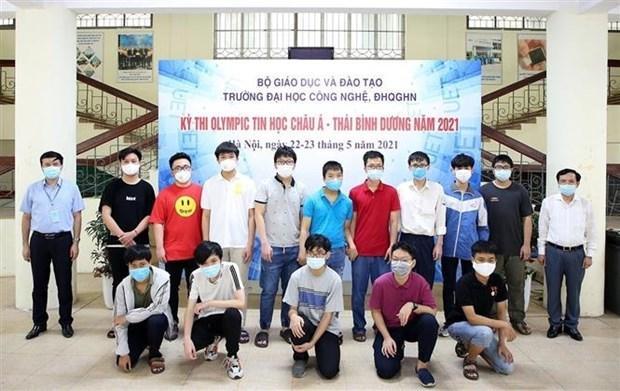 2021年亚太地区信息学奥林匹克竞赛越南赢得6枚奖牌 hinh anh 1