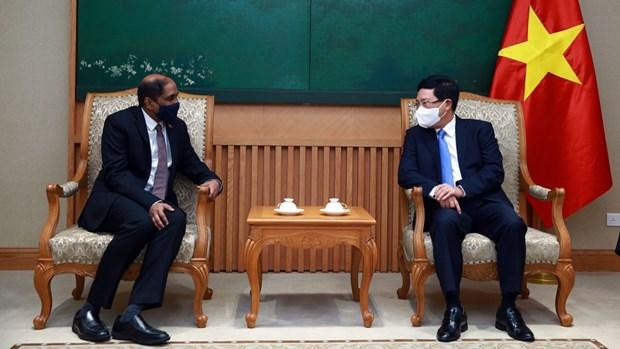 越南政府副总理范平明会见新加坡驻越南大使嘉雅·拉特南 hinh anh 1