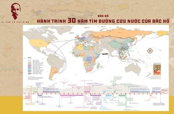 《胡伯伯出国寻找救国之路30周年行程地图》亮相 hinh anh 1
