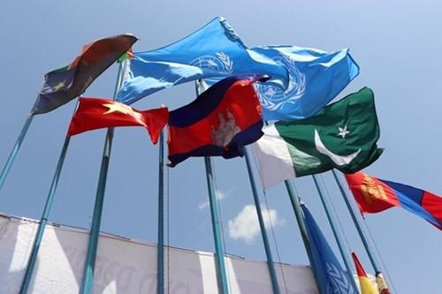 越南金星红旗在南苏丹共和国迎风飘扬 hinh anh 1