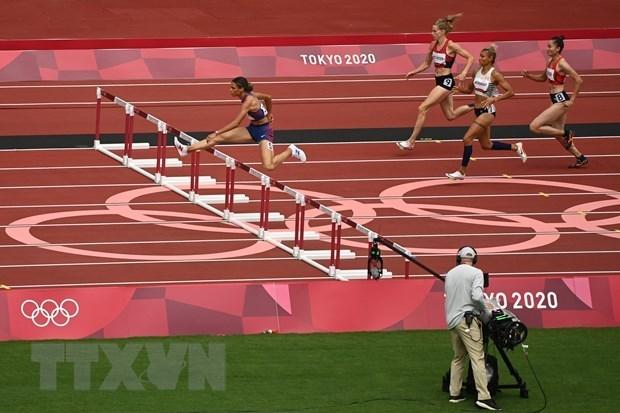 2020年东京奥运会:越南运动员郭氏兰挺进田径女子400米跨栏半决赛 hinh anh 1