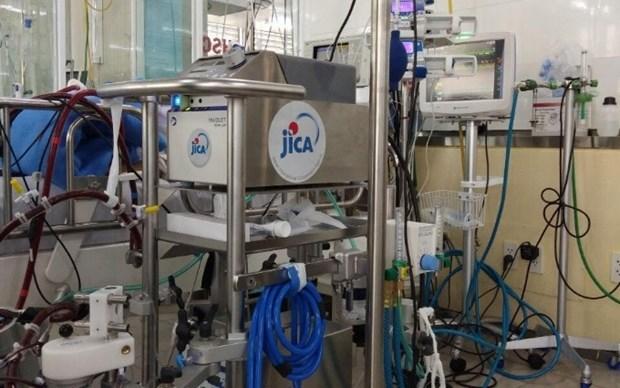 日本国际协力机构向大水镬医院提供收治新冠患者的急救设备 hinh anh 1